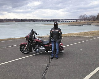 Jennifer Moss, daughter-in-law of Diane Moss, joined her husband, Mike, on the ride to Lake Milton.