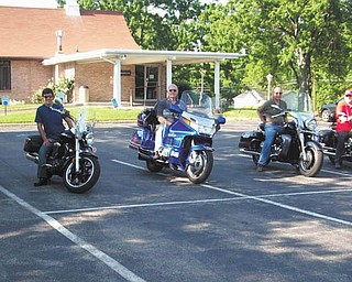 Ready to roll are Larry and Joann Jancay, Joe Varacalli, Buddy Colwell, Jimmy Santangelo and Bill Olesky, all of Bridge of Hope Church in Boardman.