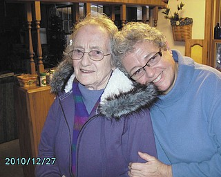 This is Mary Ann Varner's favorite photo of her 89-year-old mom, Ruth Varner of Indiana, Pa., and Mary Ann, when she was leaving after one of her visits at Christmastime.