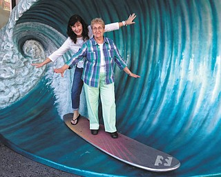 Sue Brandenstein is shown during a trip to Florida this past year with her mom, Theresa Koken. Sue says she's is always willing to try anything new, even at 83.
