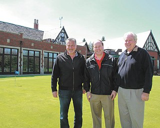 ROBERT K. YOSAY| THE VINDICATOR The American Heart Association golf outing will take place June 2 at Youngstown Country Club. Preparing for the event, from left, are Joe Valvo, event co-chairman; Dana Balash, WFMJ-TV 21 sports announcer; and Dr. Mike Burley, co-chairman.