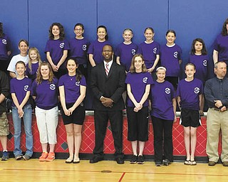 SPECIAL TO THE VINDICATOR: Girl Scouts of Troop 80344, McDonald, were honored recently along with leaders, volunteers and parents. From left to right, in front are Greg Ward, Hud Gillespie, Cailey Titus, Rachel Ward, Abigail Sampson, Mark Callion, Maley Worrell, Kayleigh Rasey, Abriella Gillespie, Thomas Domitrovich, Patti Worrell and Deb McCalpin. In back are JoMarie Jones, Lori Gillespie, Michelle Titus, Miley Titus, Hannah Alcantar, Selah Jones, Nevaeha Carkido, Megan Ward, Isabella Wolford, Lucia Wolford, Caroline Alcantar, Candice Ward and Becky Wolford.