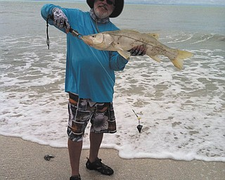 Mitch Shopinsky caught this large snook on Sanibel Beach this spring. Sent by Sherri.