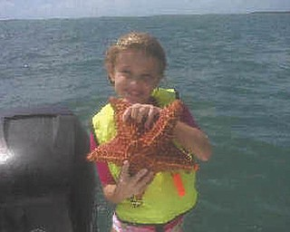 Gala Gibson went fishing and came up with a starfish off the coast of Key West, Fla. Gala is the granddaughter of Dom and Georgie Peters of Poland.