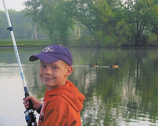 Zachariah Holm, 8, from Youngstown, was enjoying the scenery while fishing at Mosquito Creek Lake State Park on May 22. Submitted by TJ Keiran, Zak's uncle.