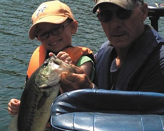 Jack Martz Sr. and his grandson Cooper Martz, 5, taken by CooperÕs dad Jack Jr.  They, with CooperÕs  brother, Grayson, and GrandpaÕs dog Laney go fishing together all the time.  Grandpa is from Edinburg, Pa. and Jack, Cooper and Grayson all live in Boardman. Sent by CooperÕs mom, Tracy.
