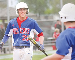 While ace pitcher Nick Allison gets more attention, Western Reserve shortstop/No. 2 pitcher Tristan Bova (23) has played a key role in the Blue Devils' run to the Division IV state semifinals.
