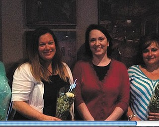 SPECIAL TO THE VINDICATOR: Poland Junior Women's Club installed officers at its May social at Steamers Stonewall Tavern, 10078 Market St,, North Lima. From left are Barb Costello, president; Jacci Miler, secretary; Karen Biggs, past president; Diane Herdman, vice president; and Jeanette Albert, treasurer. For information about the club and upcoming events visit www.pjwc.org.