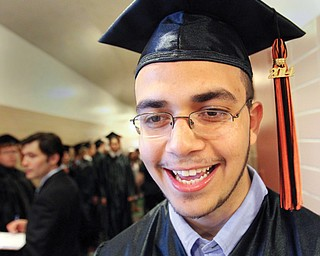 Yousef Mousa, who graduated from Howland High School Wednesday night, came to the United States two years ago from Dubai, United Arab Emirates, and didn't speak English. He plans to attend Kent State University in the fall.