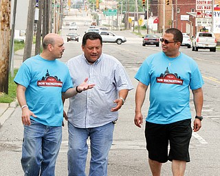 NOW Youngstown promoters, from left, Pastor Al Yanno of Metro Assembly of God, Youngstown, Pastor Rolando Rojas of Spanish Evangelical Church, Youngstown, and Pastor Rafael Cruz of Unity Baptist Church, Boardman, will hit the streets for the third year for the Increase the Peace rallies. The first event is set for June 17.