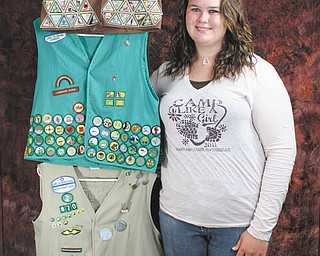 Special to The Vindicator: Elizabeth Pospisil is a recent recipient of the Girl Scouts Gold Award, which is equivalent to an Eagle Scout Award for Boy Scouts.