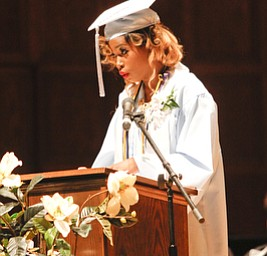 ROBERT K. YOSAY  | THE VINDICATOR.. Valedictorian  Angel Bell... East  High School   graduation Friday morning at Stambaugh Auditorium