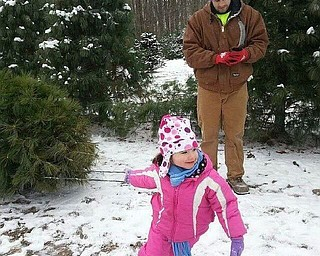 """Sophia, 3, tells her daddy, Joshua Barringer of Canfield, """"That's okay daddy, I will get it."""" Sent by Grandma, Barb Barringer."""