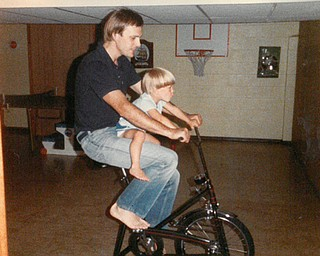 Jeff Musser of Hubbard and his son, Adam Musser, 3, of Howland, taken in August 1984. Sent by Adam.