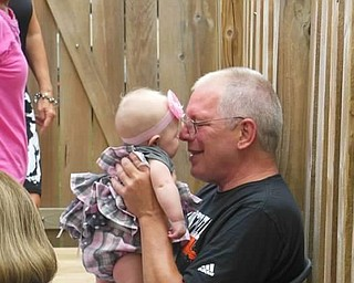 This is Jack Novicky of New Middletown, and his granddaughter Cecelia Grope, sent by Jack's daughter, Allison Grope of Boardman.