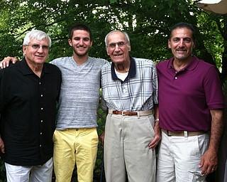 From left are Grandpa John Boris Sr. of Boardman and grandson, Michael Kinkela of Poland; and Albert Kinkela Sr. of Lowellville, grandpa to Albert Kinkela Jr. of Poland. Sent by Michael Kinkela.