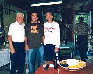 Three generations of Pavlanskys are Joseph, 91; Joseph, 33; and Dennis, 60. All are of Campbell.