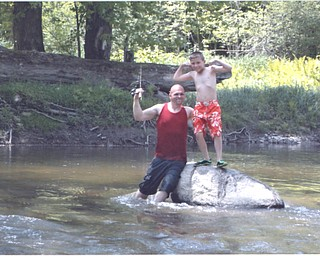 Don Newell Jr. with his son Hunter are enjoying Memorial Day.