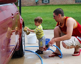 Seamus Krompegel is helping his dad, Sean Krompegel of Canfield. Submitted by Grandpa Jack Krompegel..