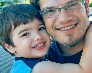 Kevin Dominic with his son, Vincent, both live in Youngstown, sent by Judy Dominic of Hubbard, VincentÕs grandmother.