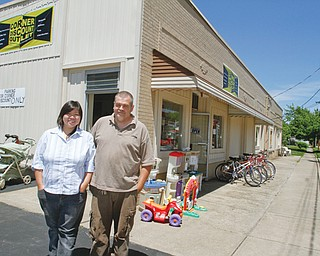 Ivy and Richard Sheeler, owners of Bound 2 Read, recently opened the Corner Discount Outlet at 563 Fifth St. in Struthers.