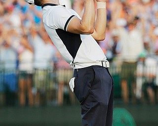Germany's Martin Kaymer celebrates winning the U.S. Open at Pinehurst No. 2 on Sunday in Pinehurst, N.C.