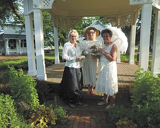 SPECIAL TO THE VINDICATOR Holborn Herb Growers Guild will have its annual tea in July. Dressed for the occasion are, from left to right, Yvonne Ford, president; Sue Petrollini, secretary and co-chairwoman, and Eva Pavlov.