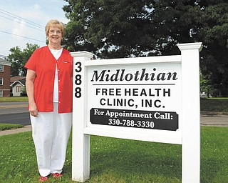 When Carol Beard of New Middletown retired in 2004, she became part of a group of nurses that formed the  Midlothian Free Health Clinic, which now serves a client base of 800 to 900 people.