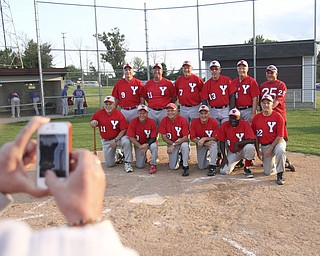 William D Lewis | The Vindicator.The Youngstown Classics team, which includes Ron DiVincenzo and Charlie Harris, plays in an over-58 baseball league at Field of Dreams in Boardman.