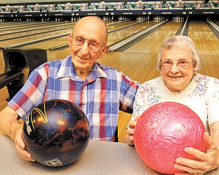Gil and Doris Frank of Struthers met at a bowling alley almost seven decades ago. They still bowl together at Holiday Bowl on Youngstown-Poland Road. The couple typically bowls three games on Wednesdays and Fridays in the summer.