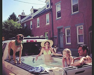 Gavin DiRusso and company cooling off in the city of Philadelphia economically. Sent by Becky DiRusso.