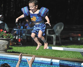 This is Sammy Pickens from Boardman jumping into the pool. Submitted by his grandfather, Michael McBride, Liberty.