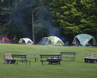 Katie Rickman | The Vindicator.A portion of tents set up at Mill Creek MetroPark's Family Camp...there were about 16 tents all together.
