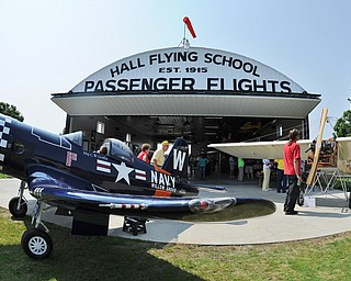 Jeff Lange | The Vindicator  Saturday was the first day the Ernie Hall Museum was open to the public during the Wings and Wheels Fundraiser event.