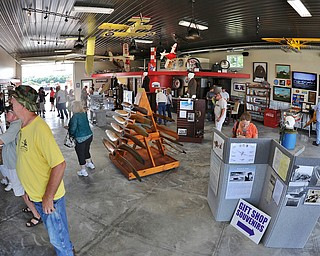 Jeff Lange | The Vindicator  Saturday was the first day the Ernie Hall Museum was open to the public during the Wings and Wheels Fundraiser event in Warren.