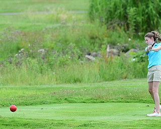 HUBBARD, OHIO - JUNE 26, 2015: Madison Dailey of Mohawktees off on the 11th hole Friday afternoon at Pine Lakes during a Vindy Greatest Golfer qualifying Tournament. DAVID DERMER | THE VINDICATOR