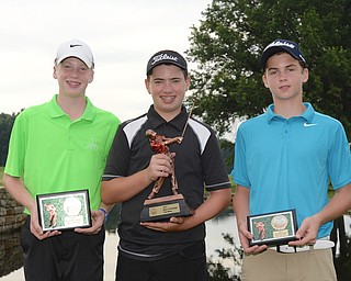 Jeff Lange | The Vindicator  JULY 26, 2015 - (From left) Conner Stevens of Brookfield, Cole Christman of Boardman and RJ Puzzuto of Neshannock.