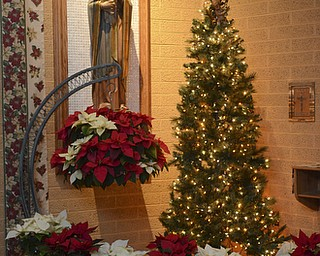 Katie Ricman | The Vindicator.Christmas decorations at St. Catherine Church in Lake Milton