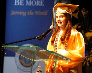 ROBERT  K. YOSAY | THE VINDICATOR..Abigail Hope Morris ... Valedictorians..gives her speech..Valley Christian Schools --Highway Tabernacle Church..almost 40 graduates  celebrated graduation - ..-30-