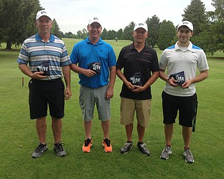 Qualifiers at the Leetonia Sons of America Post 131, 9 hole outing, Bryan Brownfield, Kyle Hiscox, Dave Kilgore (captain), and Matt May. Score of -9.