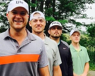 Qualifiers at the Neighborhood Ministries Golf Outing: Josh Dankovich, Jeff Pilcher, Tyler Rach, David Rach. They scored -15.