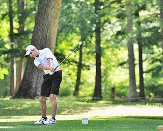 Jimmy Graham of Warren JFK tees off on No. 6 during Wednesday's 2016 Flynn Auto Group Junior Greatest Golfer of the Valley tournament Wednesday at Mill Creek South Course. Graham placed U-17. Graham placed U-17...--Jeff Lange | The Vindicator  WED, JUN 29, 2016