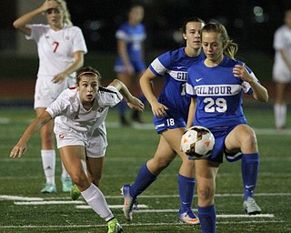 Solon, Ohio: Tuesday, Nov. 1, 2016..as Cardinal Mooney High School takes on Gilmour Academy at the Division III girls soccer regional semifinal at Stewart Field in Solon, Ohio on Tuesday, Nov. 1, 2016...(Nikos Frazier | The Vindicator