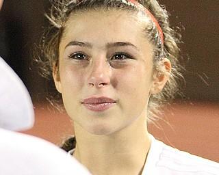 Solon, Ohio: Tuesday, Nov. 1, 2016..Breanna Evans(14) after the game...(Nikos Frazier | The Vindicator