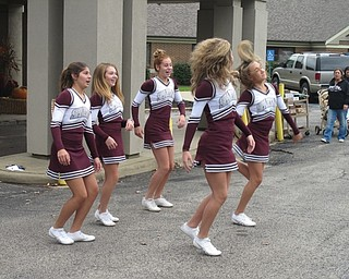 Neighbors | Alexis Bartolomucci.Eighth-grade Boardman cheerleaders danced to a few songs during the first annual car show at Beeghly Oaks on Oct. 1.