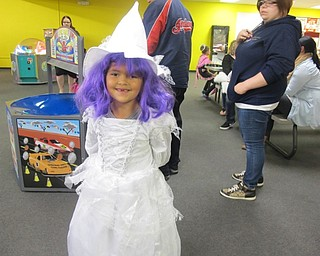 Neighbors | Alexis Bartolomucci.Ava dressed up for the Halloween party at Austintown Bounce on Oct. 21.