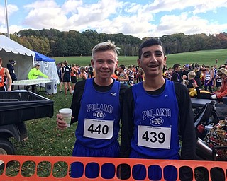 Neighbors | Submitted.Mason Matiste and his teammate Tony Gallo posed for a photo at the OHSAA State Cross Country Championship Meet.