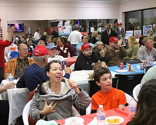ROBERT K. YOSAY  | THE VINDICATOR..At the Republican HQ in Boardman party faithful sit and cheer as results start to trickle in...Election 2016...  . - -30-...
