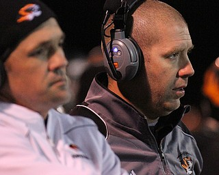 William D. Lewis/The Vindicator  Springfield coach  Sean Guerriero during Nov 11, 2016 playoff game with Kirtland at Austintown.
