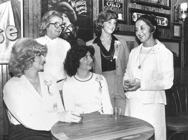 Warren Junior Women's League Luncheon seated from left Susan rebhan, Renee Zuzulo, standing Betty Floor, Marilyn DeJute and Alice DeMarco